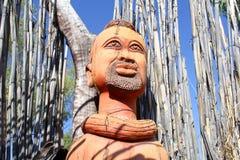 Выражения лица Woodcarving, Намибия Стоковое Фото