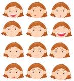 выражения лицевые Стоковое фото RF