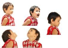выражения мальчика составные молодые Стоковое Изображение