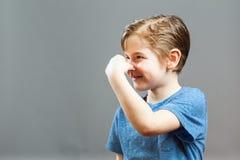 Выражения мальчика - вони Somethig Стоковые Изображения RF