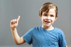 Выражения мальчика - я получаю идею Стоковые Изображения RF