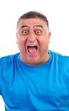 Выражения - молодой человек кричащий утехи и везения Стоковые Изображения RF