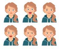 Выражения стороны девушки маленького ребенка Стоковые Изображения