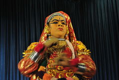 Выражения танцора Kathakali Стоковые Изображения