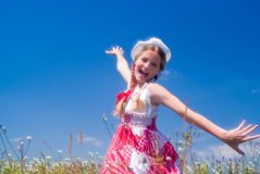 выразительная девушка напольная Стоковые Фото