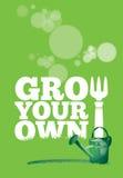 Вырастите ваш собственный плакат стоковое фото