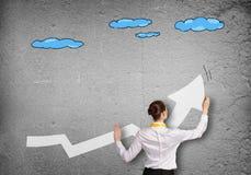 Вырастите и концепция успеха стоковое изображение