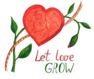 вырастите препятствуйте влюбленности Стоковое Изображение RF