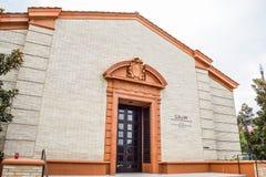 Вырастите центр Уоллиса Annenberg для исполнительских искусств стоковые изображения rf