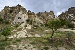 Вырезанные в скале церков в музее Goreme под открытым небом стоковые фото