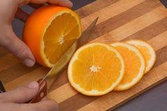 Вырезывание апельсина Стоковые Изображения