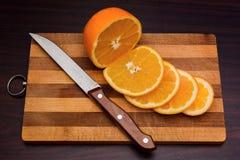 Вырезывание апельсина Стоковая Фотография RF
