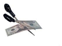 вырезывание валюты Стоковое Изображение RF