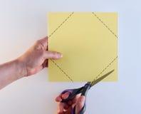 Вырезывание загоняет белую предпосылку в угол Стоковые Фотографии RF