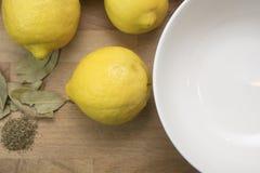 Вырезывание персоны и обрабатывать сохраненные посоленные лимоны Стоковое фото RF
