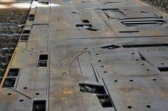 Вырезывание плазмы на фабрике Металлический лист вырезывания стоковые фото