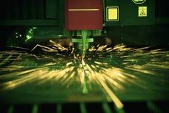 Вырезывание процесса металлического листа Стоковое фото RF
