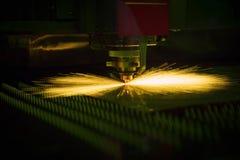 Вырезывание процесса металлического листа Стоковые Изображения