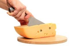 вырезывание сыра Стоковое Изображение