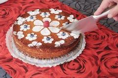 вырезывание торта Стоковые Изображения