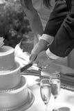 Вырезывание торта Стоковое Фото