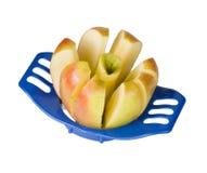 вырезывание яблока стоковая фотография
