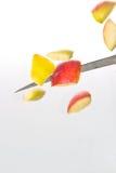 вырезывание яблока Стоковое Фото