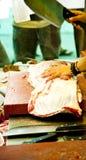 вырезывание butcher Стоковая Фотография