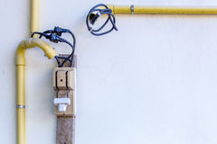 Вырез, автомат защити цепи и никакой правильный кабель не соединяются Стоковые Изображения RF