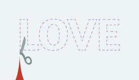 Вырез влюбленности Стоковая Фотография RF