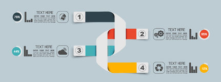 Вырез знамен номера вариантов шаблона Stikers горизонтальный для сети иллюстрация штока