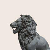 Вырез статуи льва как элемент дизайна стоковое изображение rf