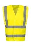 Вырез фронта желтого жилета безопасности стоковое фото rf