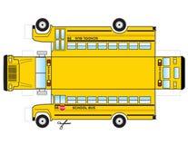 Вырез школьного автобуса Стоковое Изображение