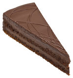 Вырез шоколадного торта стоковые изображения