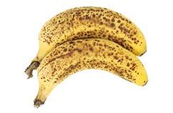 Вырез 2 зрелый бананов Стоковое Фото