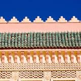 выровняйтесь в плитке Марокко Африки старой и colorated abst пола керамическом Стоковое Фото