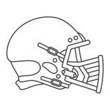 Выровняйте хоккей значка вектора, рэгби, шлем обороны бейсбола Символ успеха оборудования спорта Головная защита athirst бесплатная иллюстрация