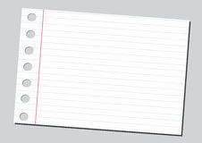 выровнянная предпосылкой белизна страницы тетради растрепанная бумагой Стоковая Фотография