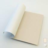 выровнянное бумажное безшовное вектор иллюстрации 3d Стоковая Фотография