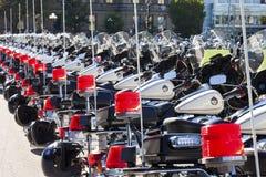 выровнянные полиции мотовелосипедов Стоковое Фото
