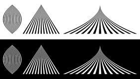 Выровнянные элементы - миндалина, треугольник и согнутый треугольник Сливать, co иллюстрация вектора