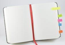 выровнянный блокнот открытый Стоковое Изображение RF