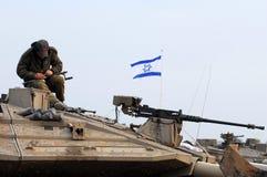 Вырывание израильских войск от Газа стоковое изображение rf