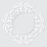 Высекаенная винтажная рамка сделанная из бумаги для изображения или фото Стоковое Изображение RF