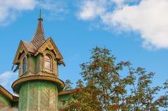 Высекаенная деревянная башня Стоковая Фотография
