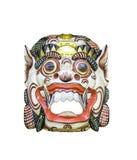 Высекаенная деревянная изолированная маска стоковое фото rf