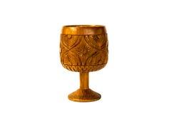 Высекаенная деревянная чашка Стоковое Изображение
