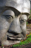 Высекаенная каменная голова Стоковые Фото