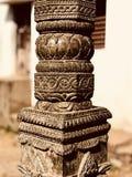 Высекаенная каменная деталь столбца Стоковые Изображения RF
